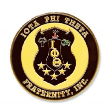 Iota Phi Theta Stamped Crest Car Emblem