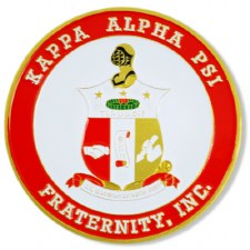 Kappa Alpha Psi Stamped Crest Car Emblem