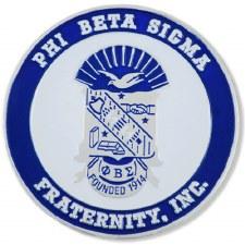 Phi Beta Sigma Stamped Crest Car Emblem
