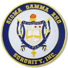 Sigma Gamma Rho Stamped Crest Car Emblem