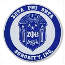 Zeta Phi Beta Stamped Crest Car Emblem