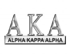 Alpha Kappa Alpha Greek Letters Car Emblem