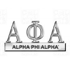 Alpha Phi Alpha Greek Letters Car Emblem
