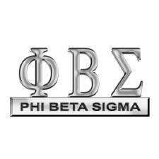 Phi Beta Sigma Greek Letters Car Emblem