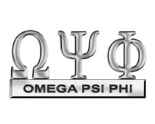 Omega Psi Phi Greek Letters Car Emblem