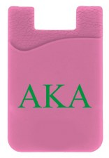 Alpha Kappa Alpha Silicone Card Holder