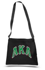 Alpha Kappa Alpha Messenger Tote Bag
