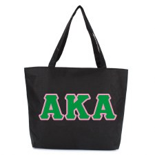 Alpha Kappa Alpha Zipper Tote Bag