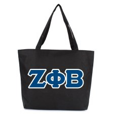 Zeta Phi Beta Zipper Tote Bag