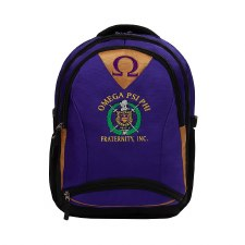 Omega Psi Phi Embroidered Commuter Backpack