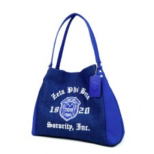 Zeta Phi Beta Denim Purse