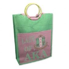 Alpha Kappa Alpha Lady Jute Bag