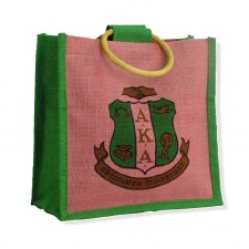 Alpha Kappa Alpha Mini Shield Jute Bag