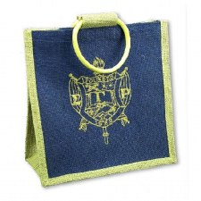 Sigma Gamma Rho Mini Shield Jute Bag