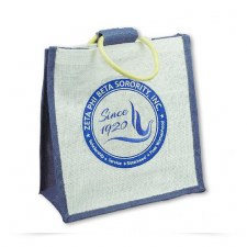 Zeta Phi Beta Mini Shield Jute Bag