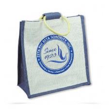 Zeta Phi Beta Mini Shield Jute Bag