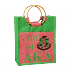 Alpha Kappa Alpha Mini Lady Jute Bag