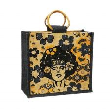 Sigma Gamma Rho Mini Afro-Centric Jute Bag