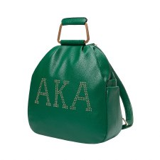 Alpha Kappa Alpha Studded Letters Backpack Purse