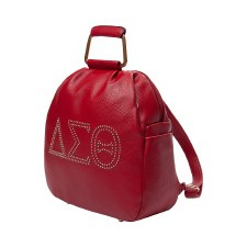 Delta Sigma Theta Studded Letters Backpack Purse