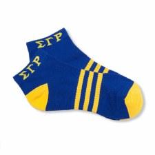 Sigma Gamma Rho Striped Ankle Socks