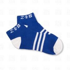 Zeta Phi Beta Striped Ankle Socks