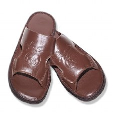 Shriner Embossed Leather Sandals