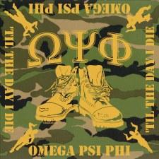 Omega Psi Phi Camo Bandana