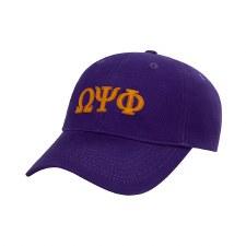 Omega Psi Phi Felt Letters Dad Hat