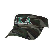 Alpha Kappa Alpha Camo Embroidered Visor