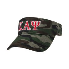 Kappa Alpha Psi Camo Embroidered Visor
