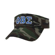 Phi Beta Sigma Camo Embroidered Visor