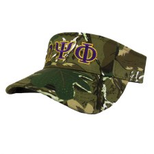 Omega Psi Phi Camo Embroidered Visor