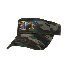 Sigma Gamma Rho Camo Embroidered Visor