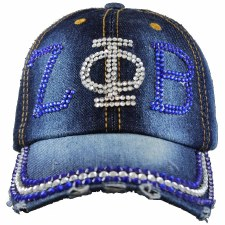 Zeta Phi Beta Denim Rhinestone Cap