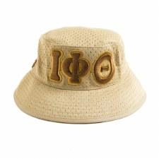 Iota Phi Theta Khaki Mesh Bucket Hat