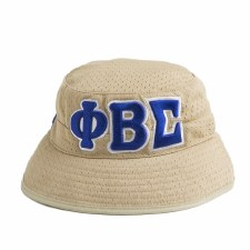 Phi Beta Sigma Khaki Mesh Bucket Hat