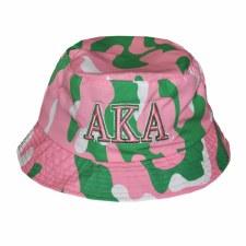 Alpha Kappa Alpha Camo Bucket Hat