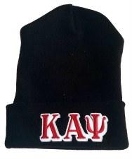 Kappa Alpha Psi Black Folded Beanie