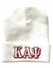 Kappa Alpha Psi White Folded Beanie