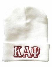 Kappa Alpha Psi White Folded Beanie