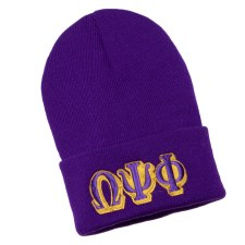 Omega Psi Phi Purple Folded Beanie