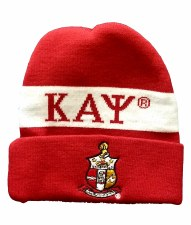 Kappa Alpha Psi Red Crest Folded Beanie