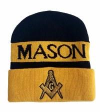 Mason Gold Crest Folded Beanie