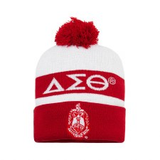 Delta Sigma Theta Red Crest Folded Beanie