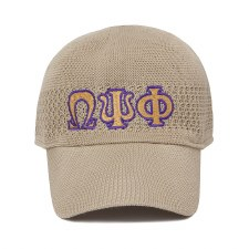 Omega Psi Phi Mesh Letter Cap