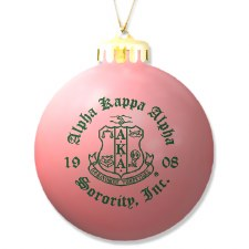 Alpha Kappa  Alpha Ornament Ball