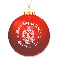 Delta Sigma Theta Ornament Ball