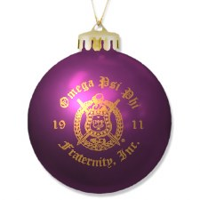Omega Psi Phi Ornament Ball
