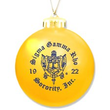 Sigma Gamma Rho Ornament Ball